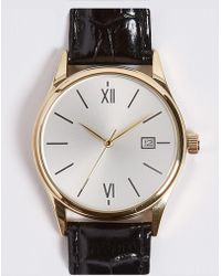 Marks & Spencer - Classic Roman Date Watch - Lyst