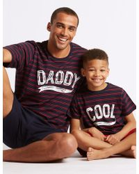 Marks & Spencer - Father And Child Matching Pyjamas - Lyst