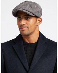Marks & Spencer - Wool Blend Baker Boy Hat With Cashmere - Lyst