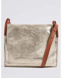 Marks & Spencer - Suede Metallic Cross Body Bag - Lyst