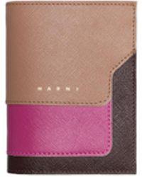 Marni - Bi-fold Wallet In Saffiano Calfskin - Lyst