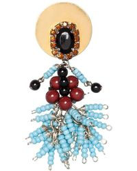Marni - Brooch In Resin And Strass - Lyst