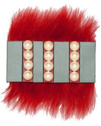 Marni | Brooch In Shearling And Pearls | Lyst