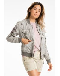 Marrakech - Aria Embroidered Bomber Jacket - Lyst