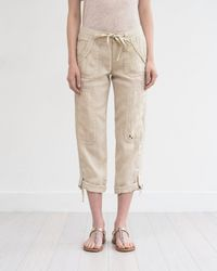 Marrakech | Ali Roll-up Linen Utility Pant | Lyst