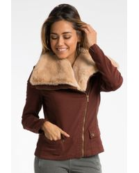 Marrakech - Faux Fur Aviator Jacket - Lyst