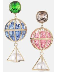 Mary Katrantzou - Nostalgia Drop Pierced Earrings Light Multi - Lyst