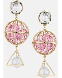 Mary Katrantzou - Nostalgia Drop Pierced Earrings Vintage Rose - Lyst