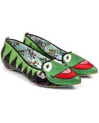 Irregular Choice - Disney The Muppets Kermit The Frog Flats - Lyst