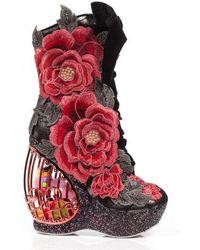Irregular Choice - Maya Birdcage Boots Heels - Lyst