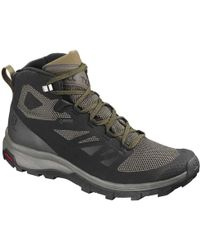 22c1a6acc68 Yves Salomon - Outline Mid Gtx Waterproof Walking Hiking Boots - Lyst