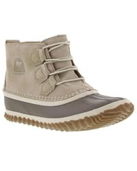 Sorel - Out N About Leather Waterproof Ankle Boots - Lyst