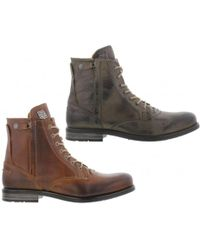 Sneaky Steve | Kingdom Leather Warm Lined Boots | Lyst