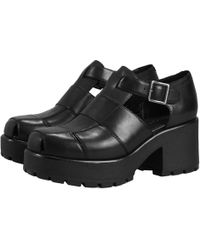 01c01ed512c8 Vagabond Dioon Chunky Platform Loafer Slip On Shoes in Black - Lyst
