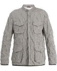 Giorgio Armani   Stand-collar Checked Jacket   Lyst