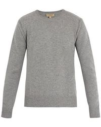 Burberry - Crew-neck Cashmere-blend Sweater - Lyst