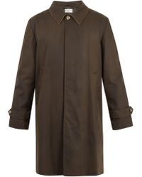 Éditions MR | Point-collar Single-breasted Cotton Coat | Lyst