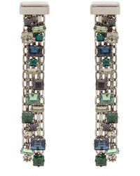 Lanvin   Crystal-drop Clip On Earrings   Lyst