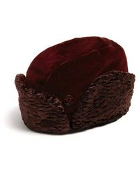 Maison Michel - Sofia Velvet And Faux-fur Hat - Lyst
