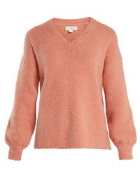 Velvet By Graham & Spencer - Erin V-neck Bouclé Sweater - Lyst