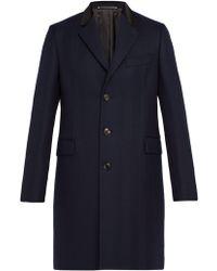Paul Smith - Wool Herringbone Overcoat - Lyst