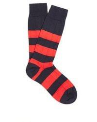 Pantherella - Scott Nichol Ely Ribbed-knit Socks - Lyst