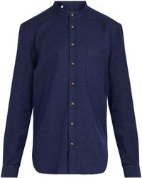 519edfeb6879 Lyst - Julius Grey Seamed Collarless Shirt in Gray for Men