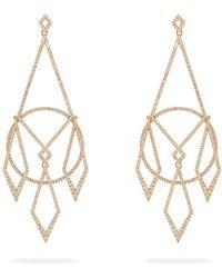 Diane Kordas - Diamond & 18kt Rose-gold Earrings - Lyst