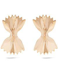 Alison Lou - Yellow-gold Bow Tie Earrings - Lyst