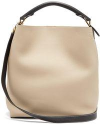 Loewe - T Bucket Grained Leather Bag - Lyst