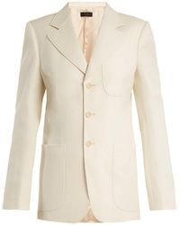 JOSEPH - Genova Single-breasted Patch-pocket Blazer - Lyst