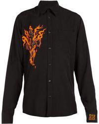 Givenchy - Flaming Dagger Print Shirt - Lyst