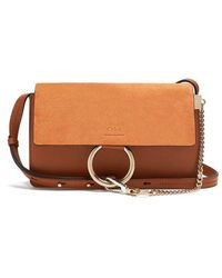 Chloé - Faye Small Suede And Leather Cross-body Bag - Lyst