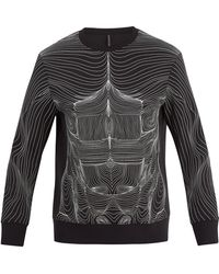 Neil Barrett - Topography Body-print Jersey Sweatshirt - Lyst