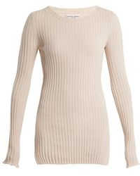 Apiece Apart - Second Skin Ribbed-knit Cotton Top - Lyst