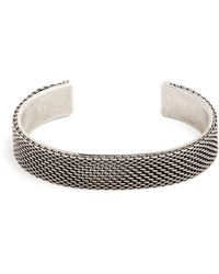 Title Of Work | Macro Hard Sterling-silver Cuff | Lyst
