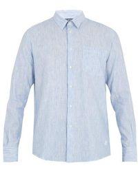Vilebrequin - Caroubis Button-cuff Linen And Cotton-blend Shirt - Lyst