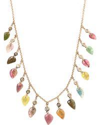 Jacquie Aiche - Diamond, Tourmaline & Gold Necklace - Lyst