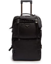 Prada - Multi-pocket Nylon And Leather Suitcase - Lyst