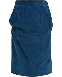 Vivienne Westwood Anglomania - Twisted Corduroy Pencil Skirt - Lyst