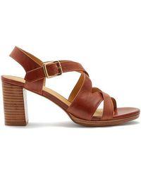 A.P.C. - Salma Block-heel Leather Sandals - Lyst