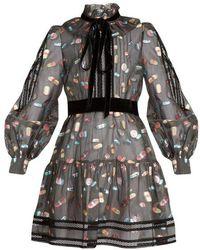 Marc Jacobs - Long Sleeve Ruffle Dress - Lyst