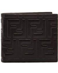 Fendi - Logo-embossed Bi-fold Wallet - Lyst