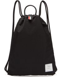 Thom Browne Logo Patch Drawcord Backpack