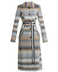 Missoni - Long Zigzag Print Coat - Lyst