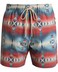 Faherty Brand | Aztec And Jewel-print Swim Shorts | Lyst