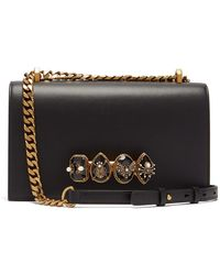 Alexander McQueen - Jewelled Leather Shoulder Bag - Lyst