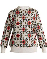 Toga - Intarsia-knit Wool Jumper - Lyst