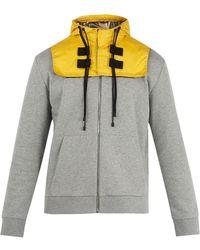 Valentino - Detachable-hood Zip-up Cotton-blend Sweatshirt - Lyst