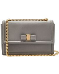 Ferragamo - Ginny Medium Leather Shoulder Bag - Lyst 4a3707e5e4